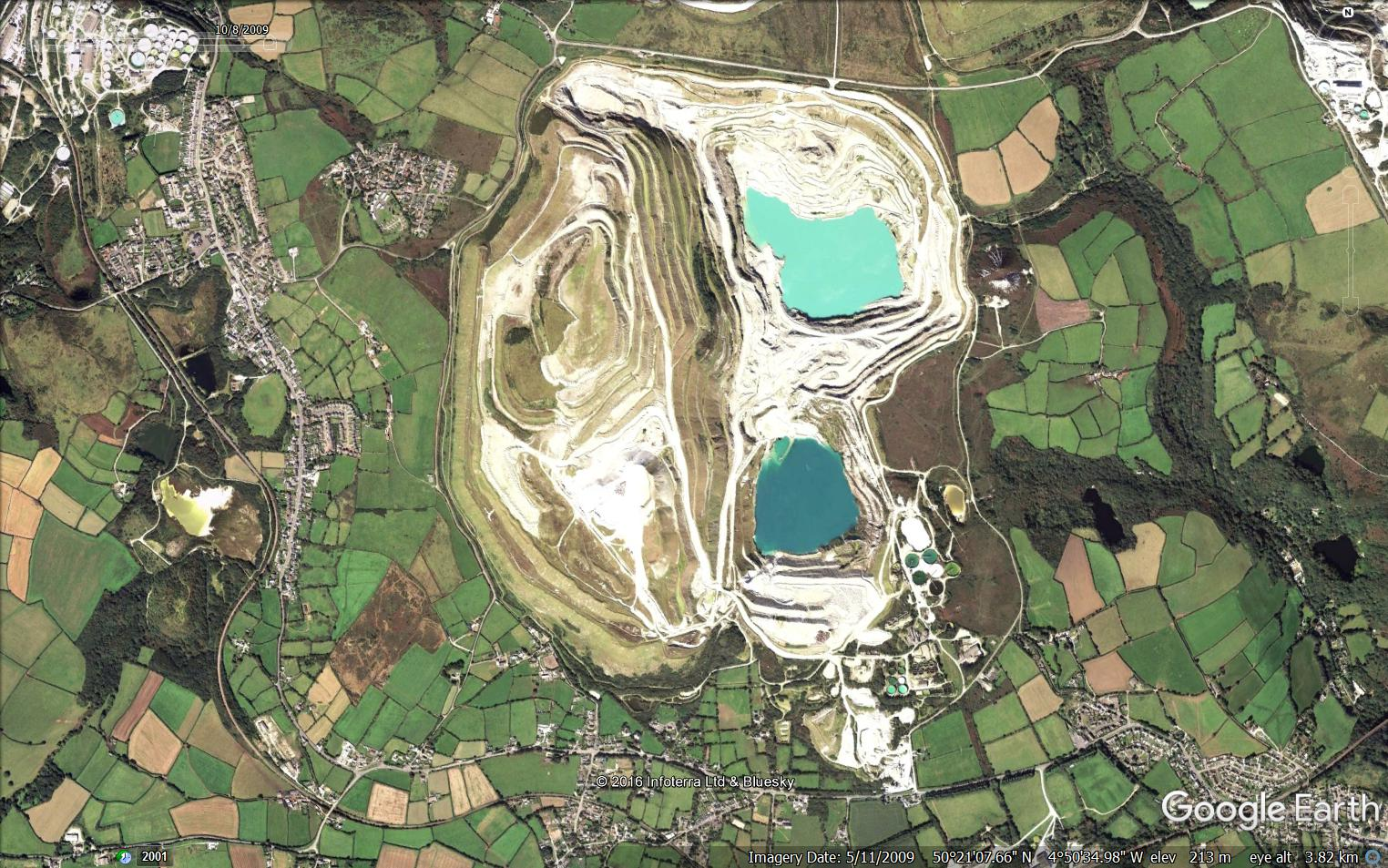 Blackpool pit 2009. Map courtesy of Google Earth satellite imagery